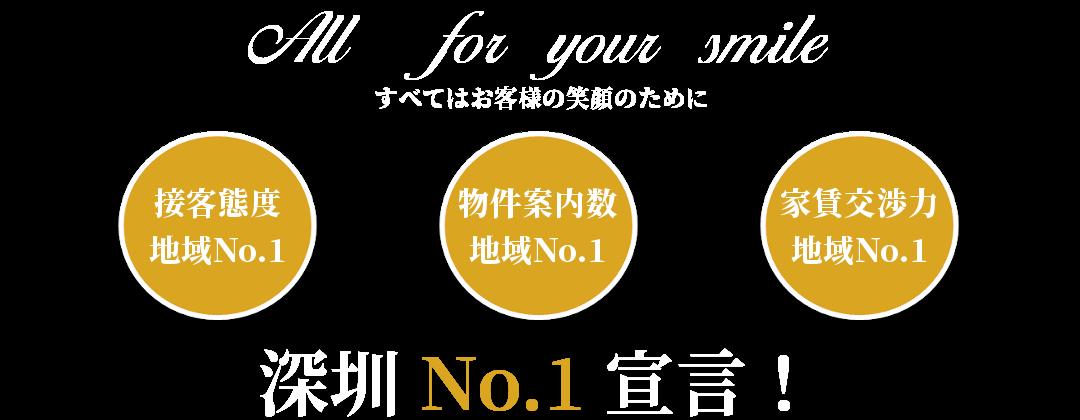 深圳 No.1 宣言!